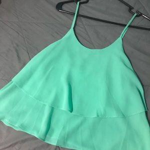 Tops - Green flowey shirt